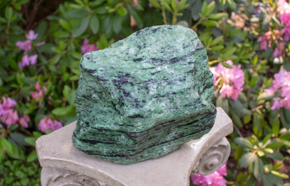 Rubin in Zoisit - Cristale naturale - Pietre semipretioase